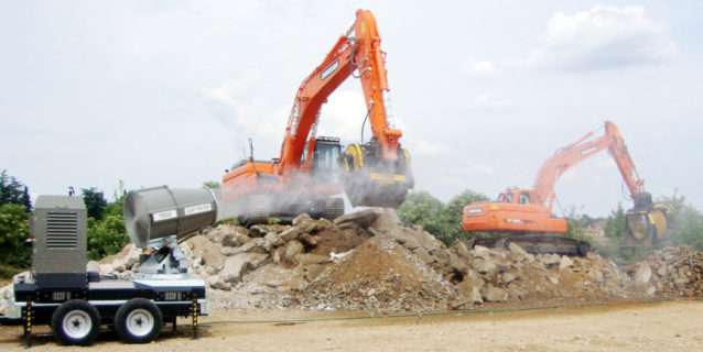 Dust fighter shows its worth at demolition site zambian mining news for Construction interior dust control
